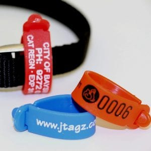 75mm WrapStraps - Cat tags
