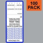 Blue Jtagz® Self Laminating Test Tags, 100 pack