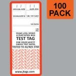 Red Jtagz® Self Laminating Test Tags, 100 pack